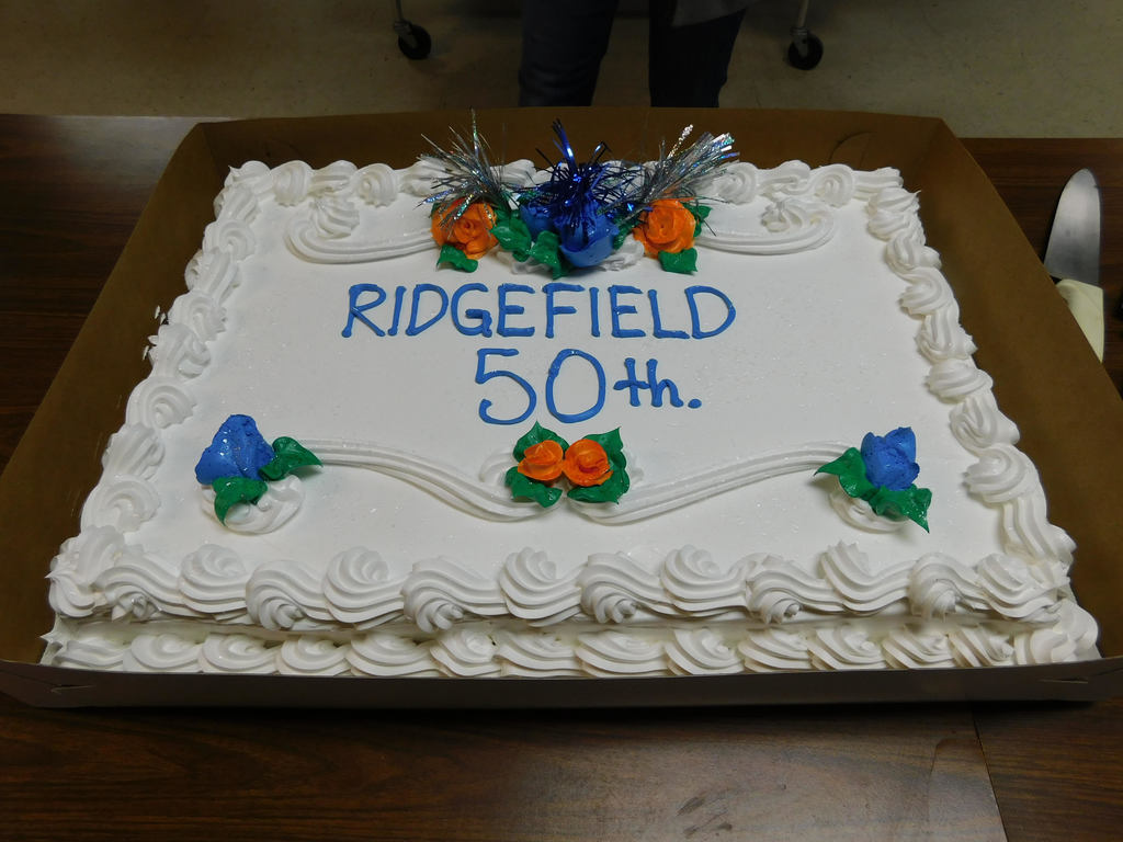 Cake celebrates Ridgefield's 50th anniversary with Cispus Outdoor School.