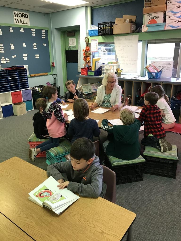 Mrs. Horne's students reading in a small group