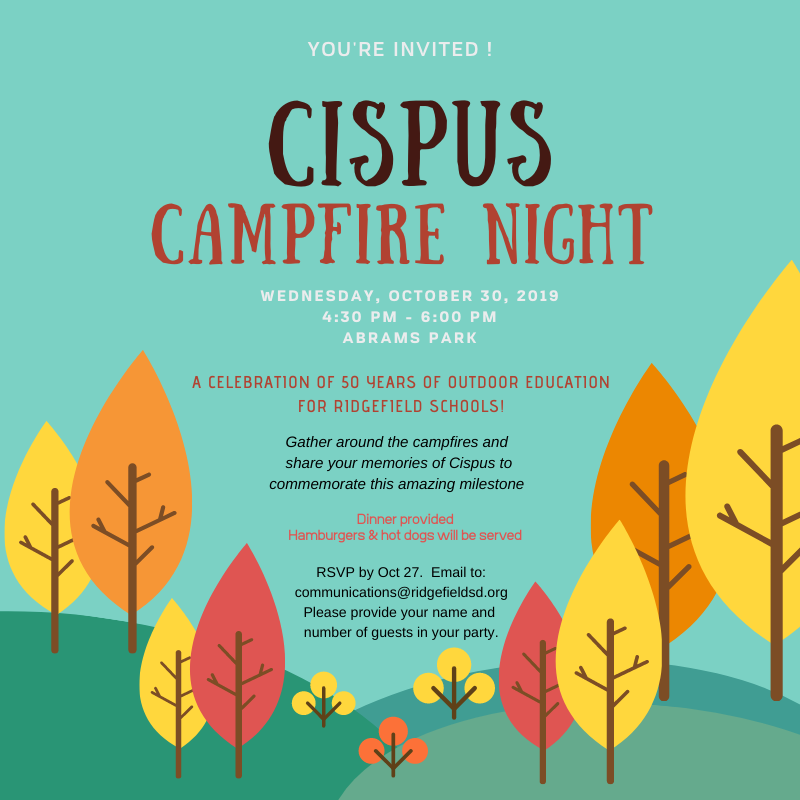 Cispus Campfire Night Oct 30 2019