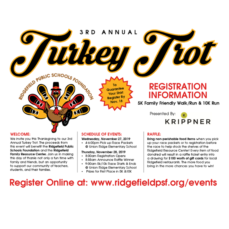 Turkey Trot 2019 flyer