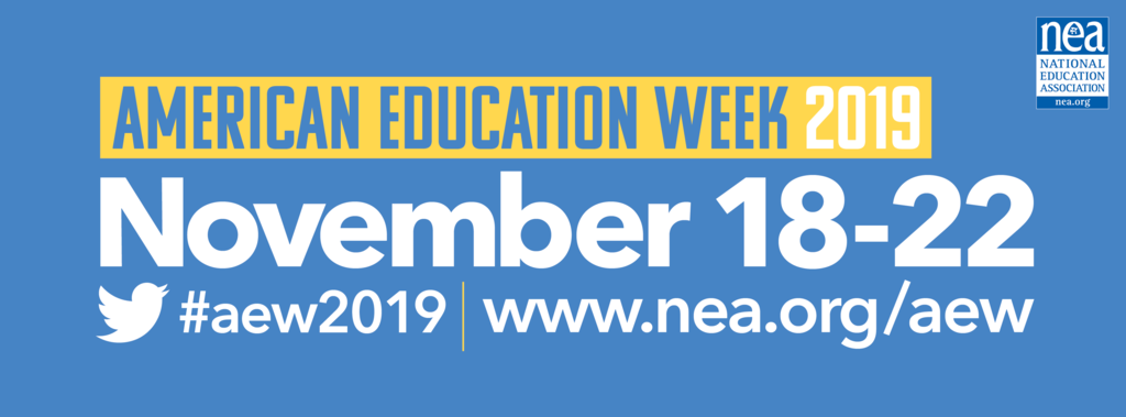 American Education Week 2019 logo