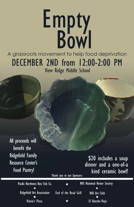 Empty Bowl project poster