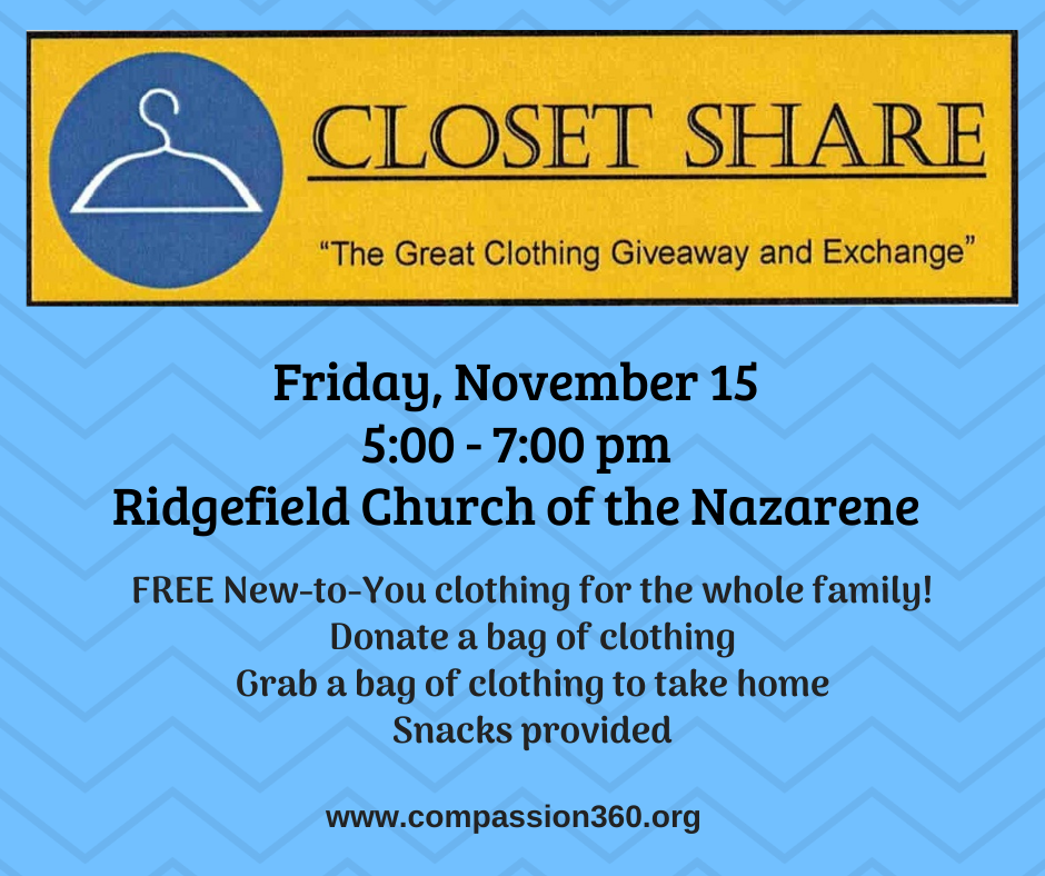 Closet Share flyer Nov 15 2019