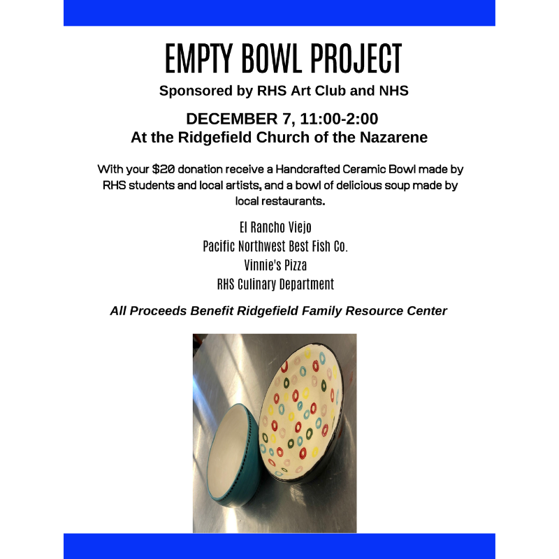 Empty Bowl Project 2019 flyer
