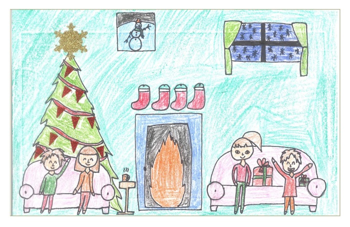 Winning entry in 2017 Holiday Greeting Card Art Contest