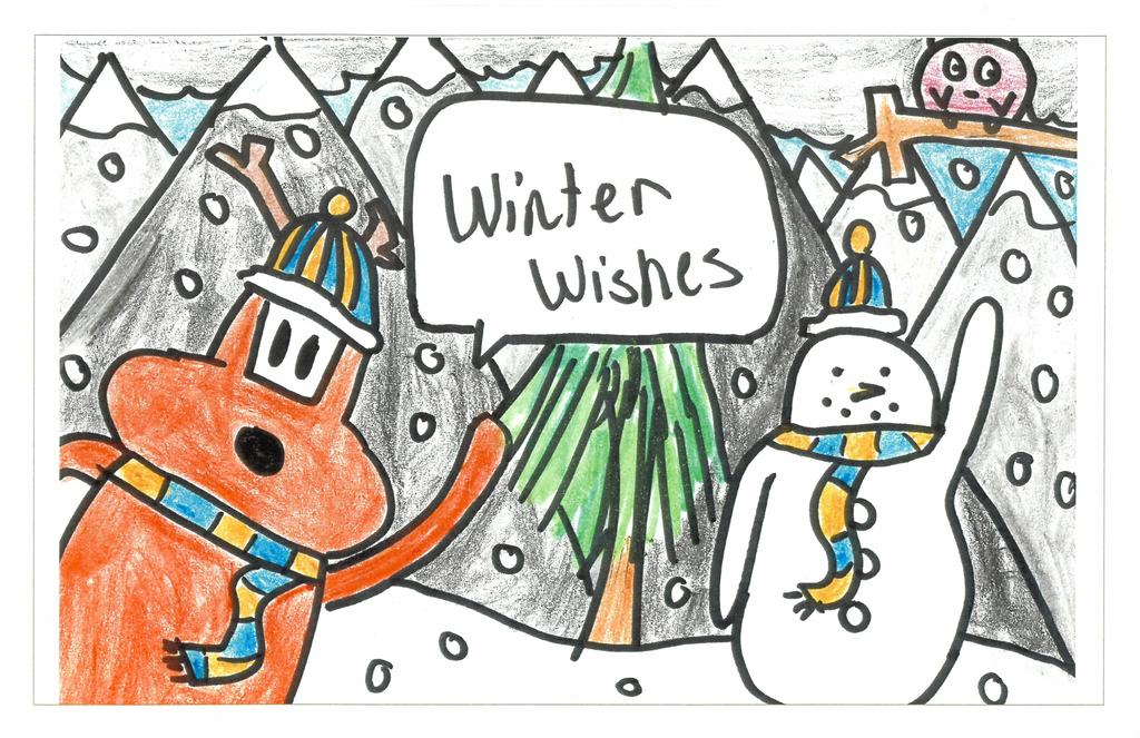 Holiday Greeting Card Art Contest 2019 winning entry
