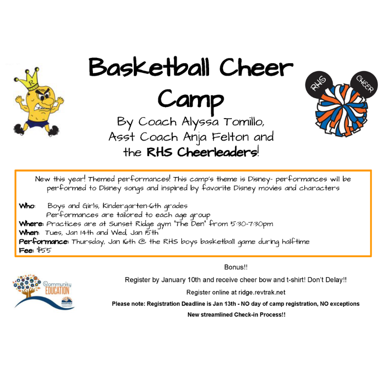 Basketball Cheer Camp Flyer