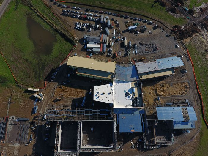 Photo of 5-8 school complex taken 12/5/17 via drone (1 of 3)..