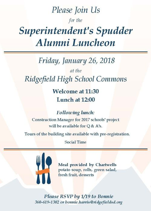 Superintendent's Spudder Alumni Luncheon Invitation