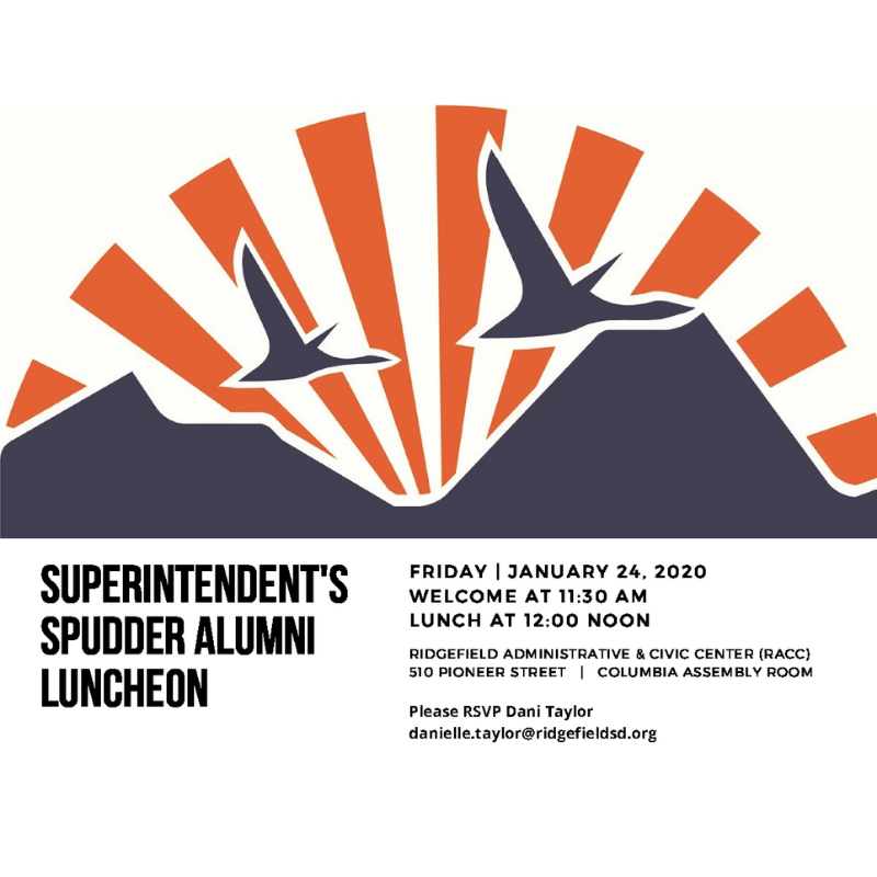 Superintendent's Spudder Alumni Luncheon Invitation Jan 24 2020