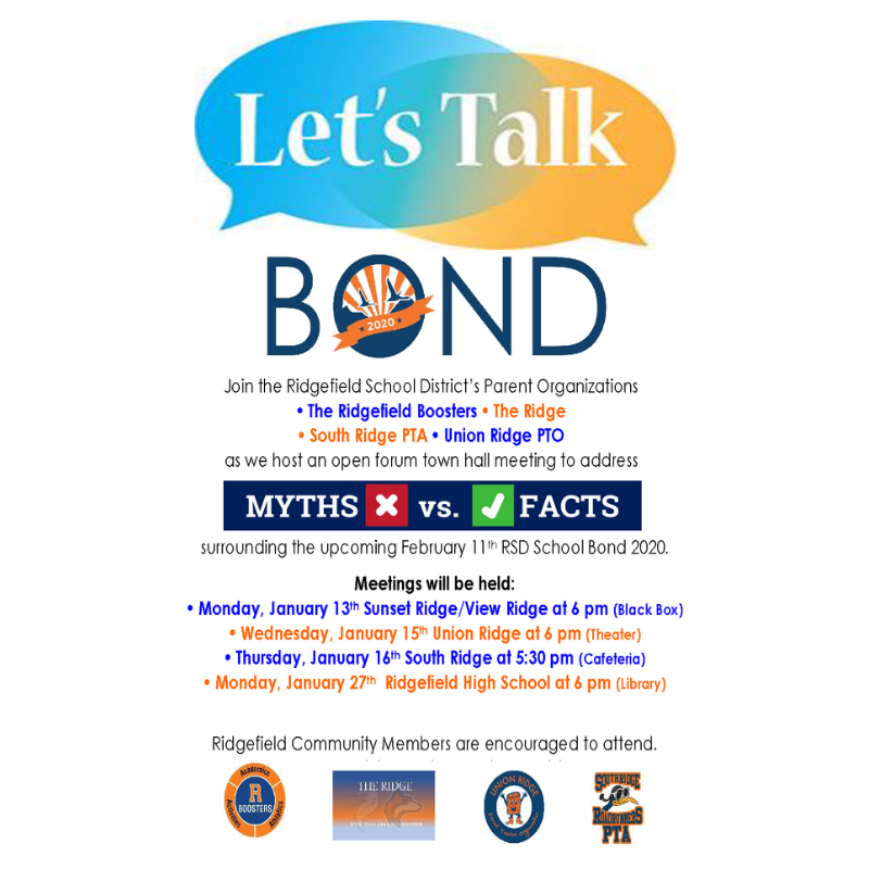 Flyer for Open Forum Town Hall Meetings Re 2020 Bond Program