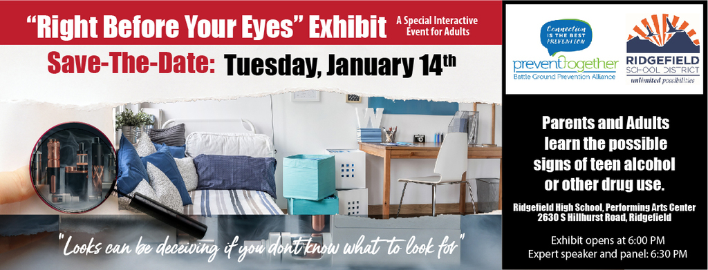 Right Before Your Eyes Exhibit flyer