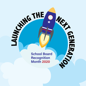 School Board Recognition Month 2020 logo