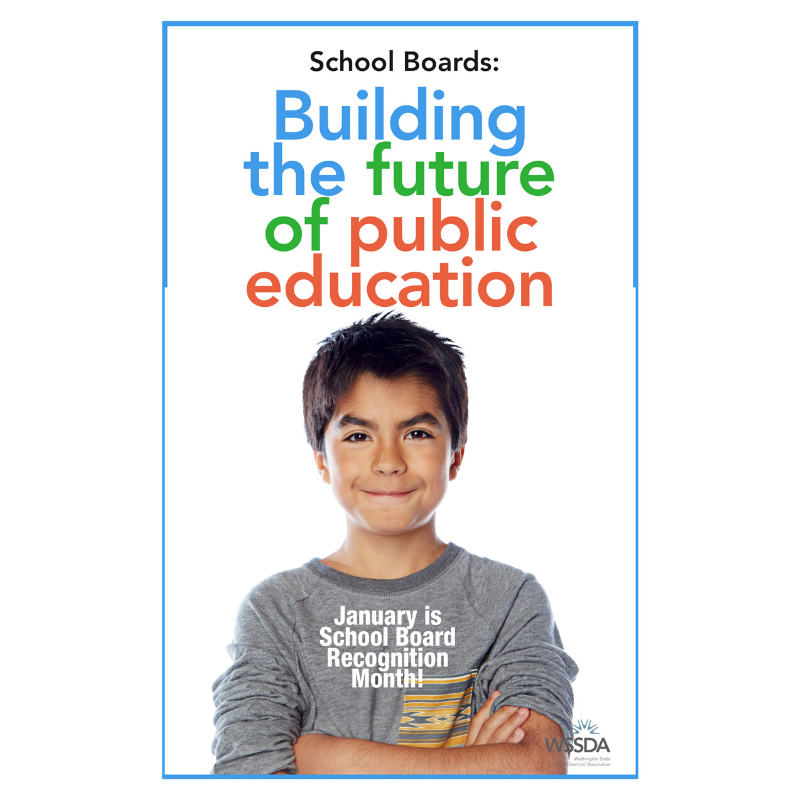 School Board Recognition Month 2020 poster