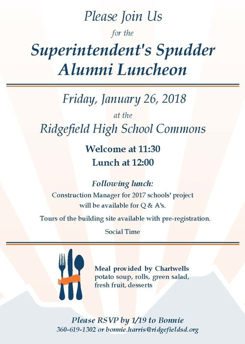 Spudder Alumni Luncheon invitation