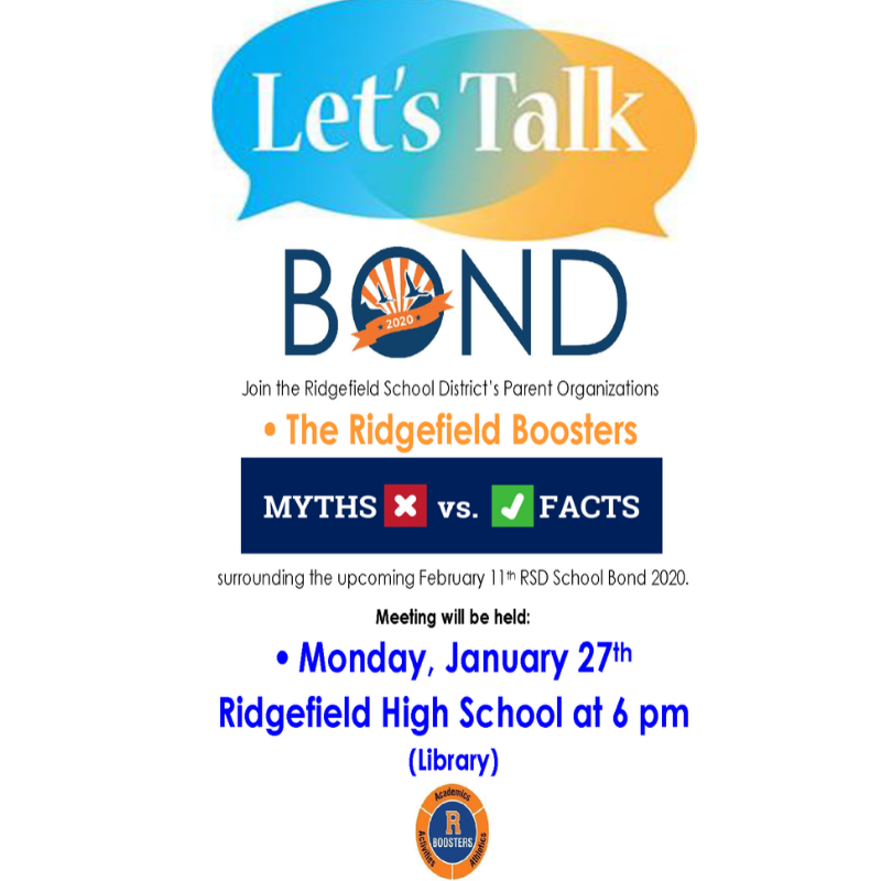 Bond Town Hall Meeting flyer Jan 27 2020