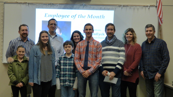 January 2018 Students and Employee of the Month
