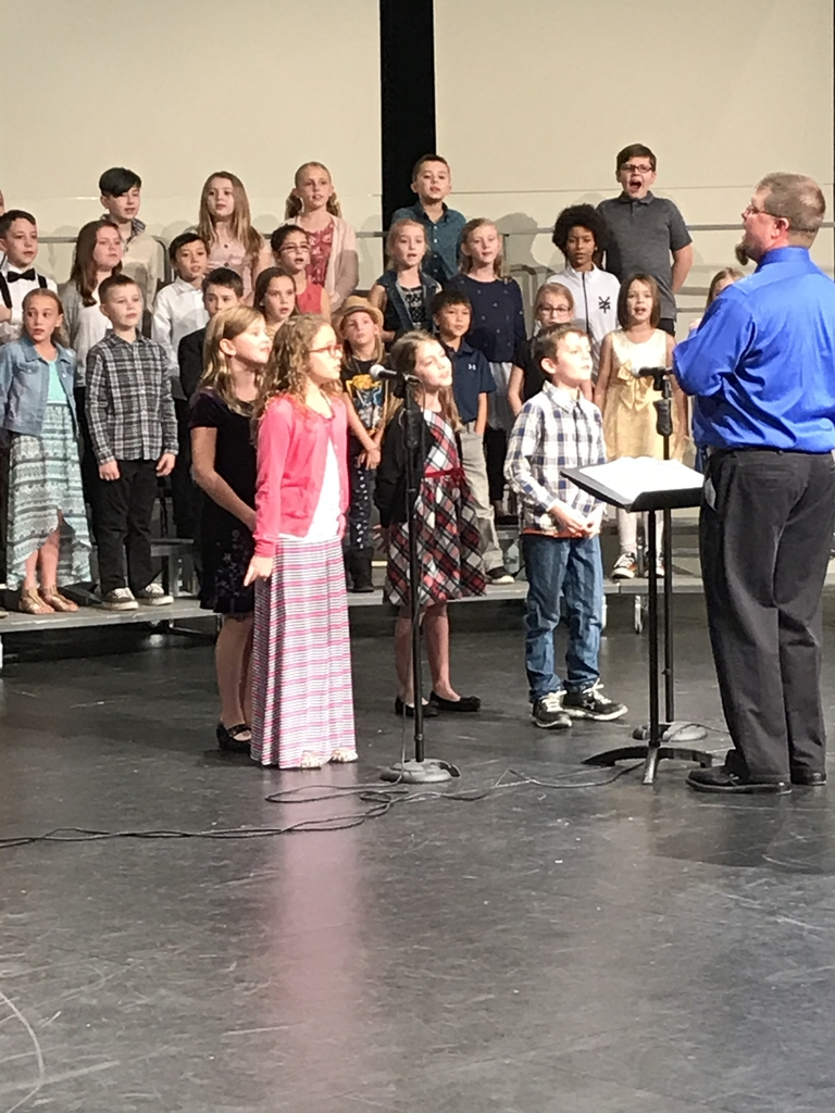 Students singing solos