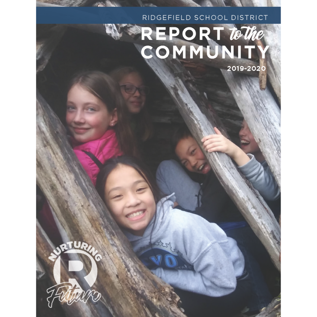 Cover of Ridgefield School District's 2019-2020 Report to the Community