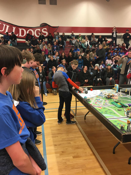 VRMS Rebels robotics team at FIRST LEGO League competition Dec 2018
