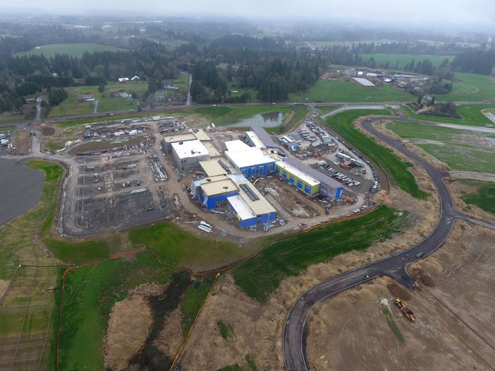 Aerial view Feb 2 of 5-8 schools complex facing S. Hillhurst Road