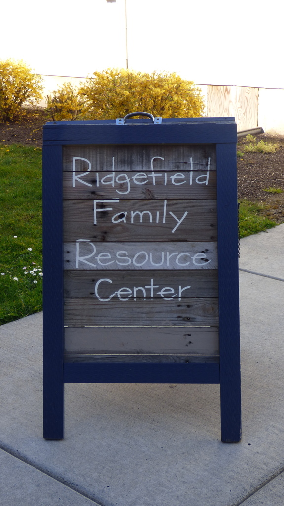 Ridgefield Family Resource Center sign