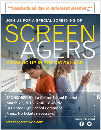 Screenagers flyer