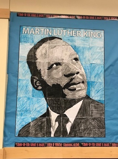 MLK art display at Union Ridge
