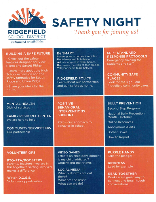 Safety Night Open House Program