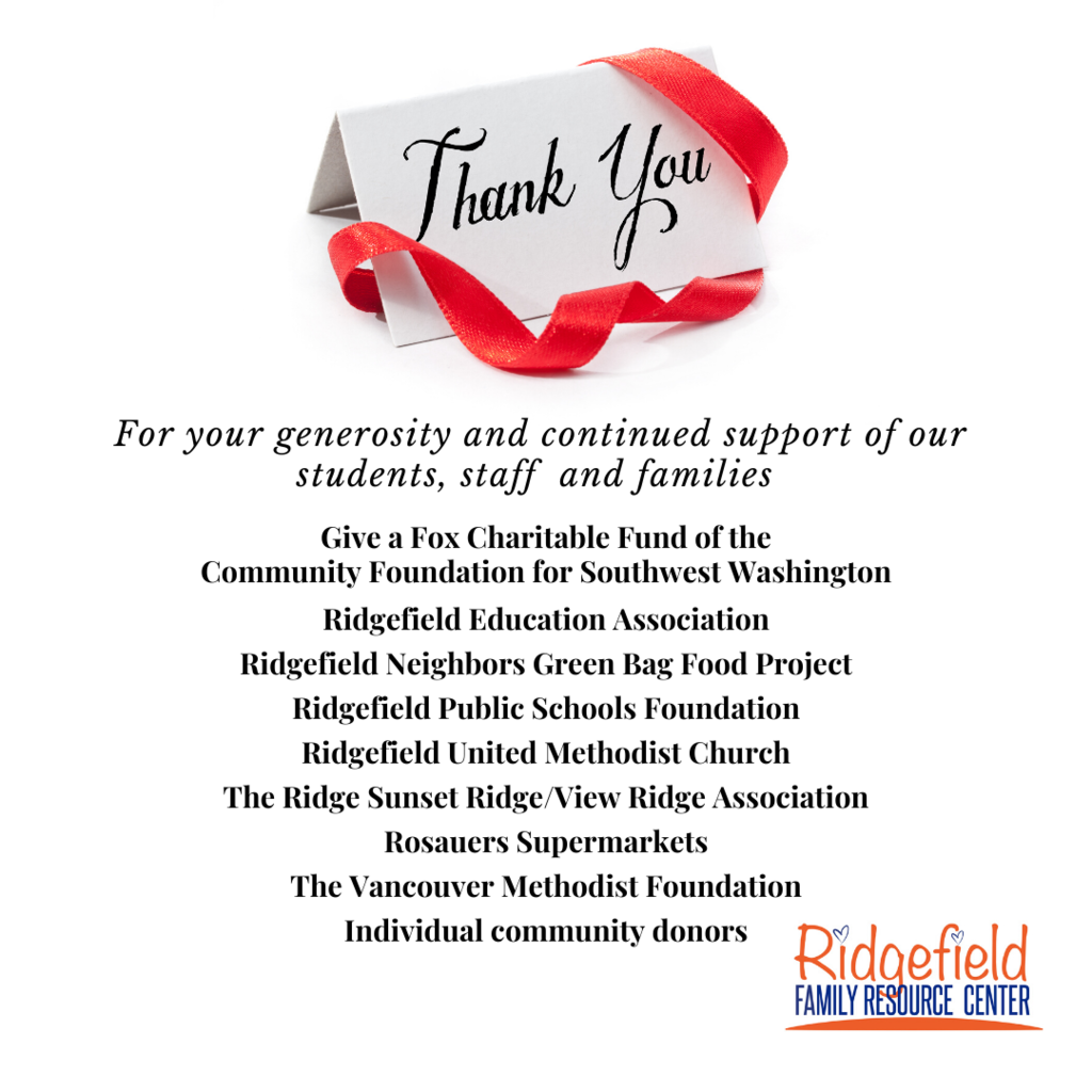 Thank You from RFRC