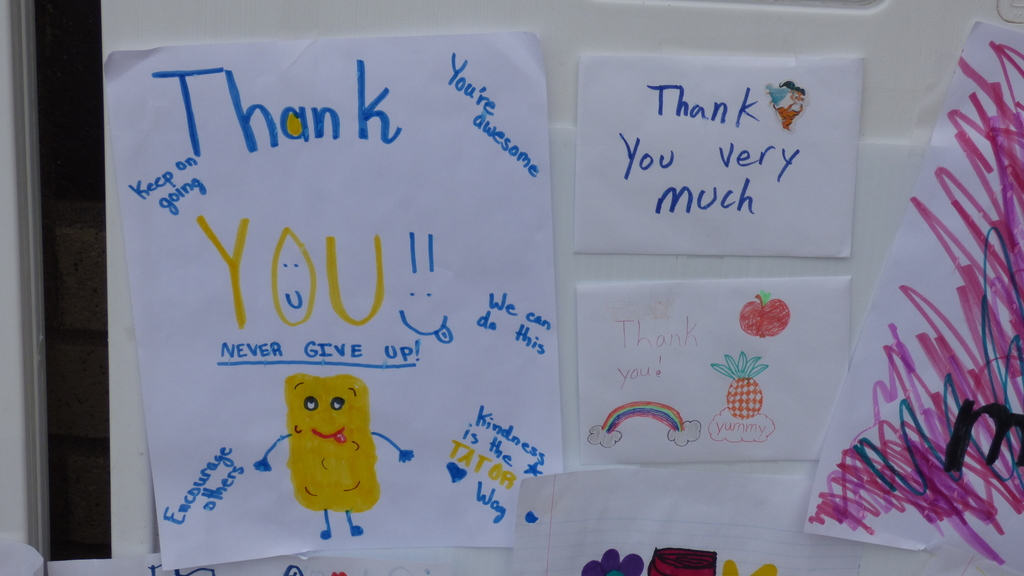 Thank you note for free meal service in Ridgefield during school closures