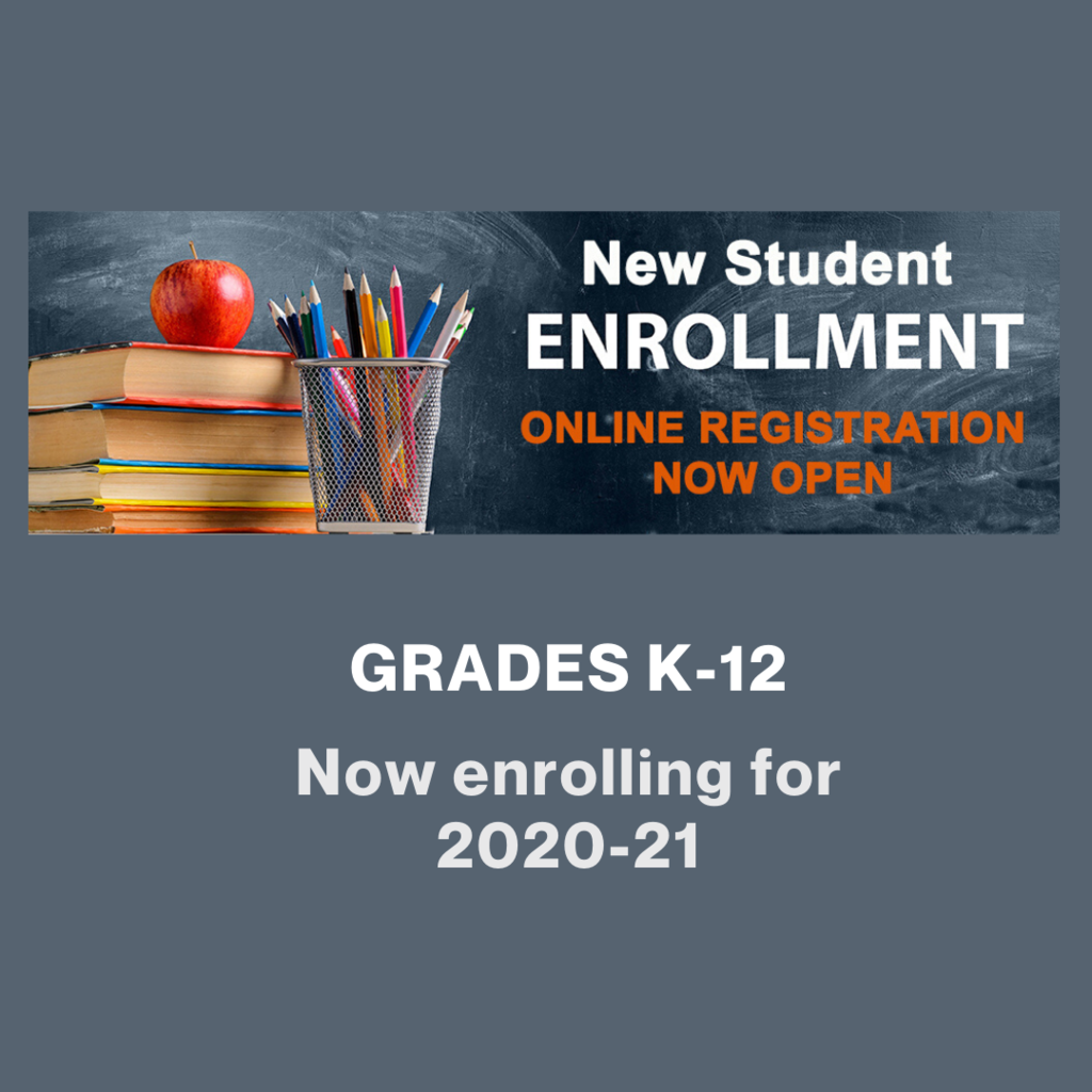 Ridgefield School District graphic for new student enrollment.
