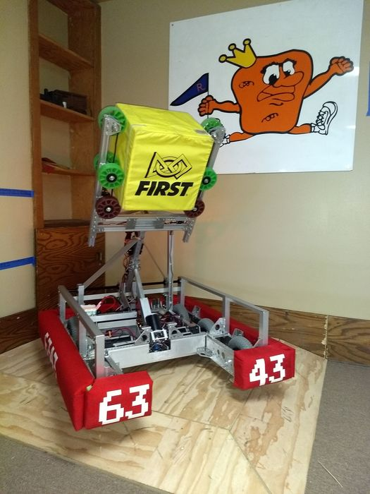 Steel Ridge Robotics robot for FRC competition.