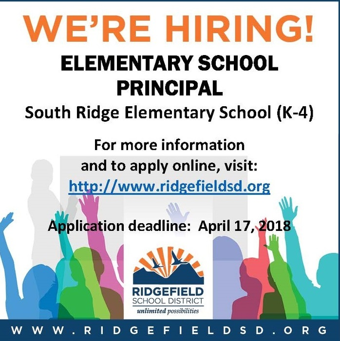 Job posting for Elementary School Principal