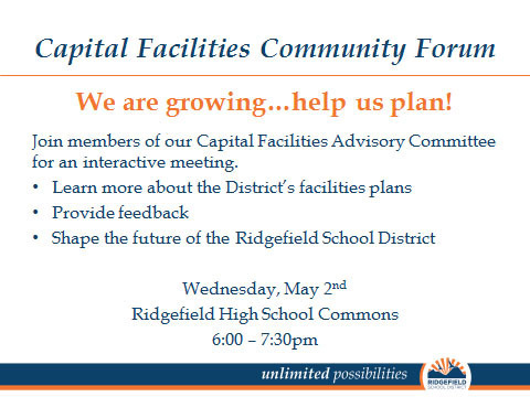 Capital Facilities Community Forum