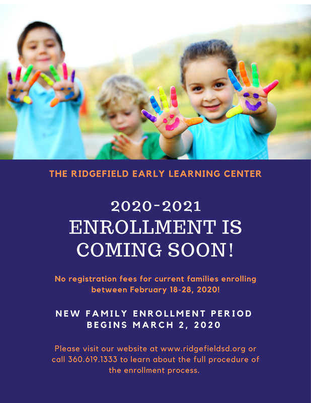 Ridgefield Early Learning Center Enrollment Soon to Begin for 2020-21 School Year