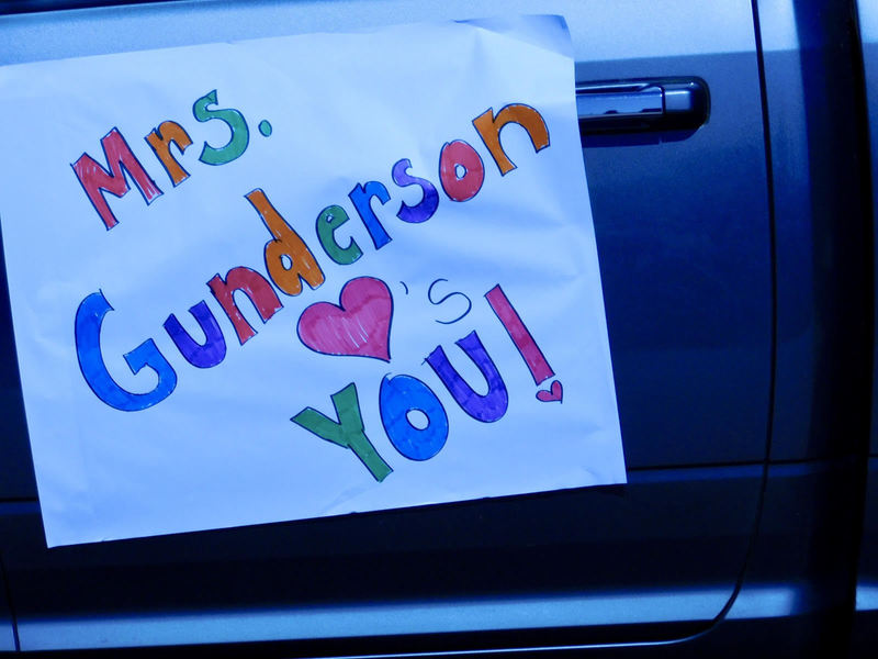 Union Ridge Teachers Hold Car Parade to See Students