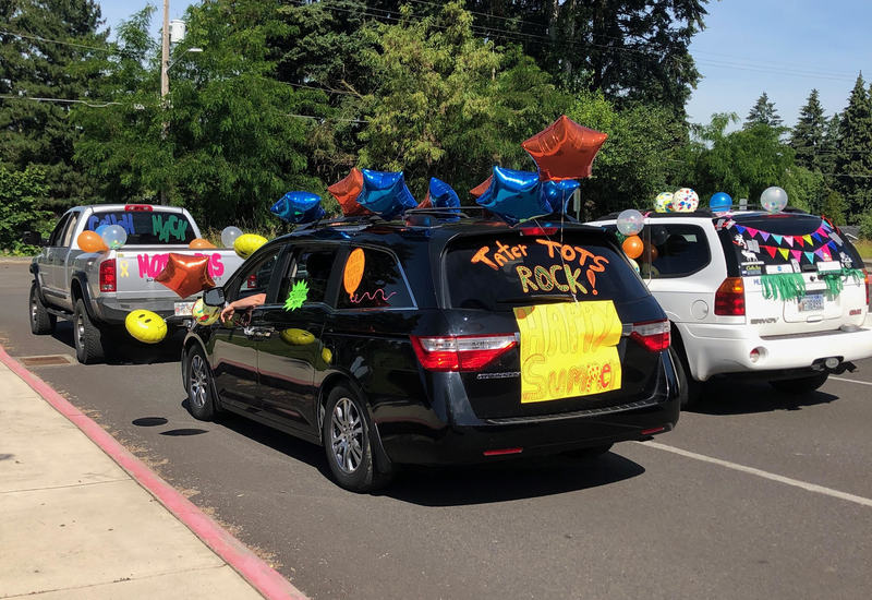 Ridgefield Elementary Teachers Celebrate End of School Year with Car Parades