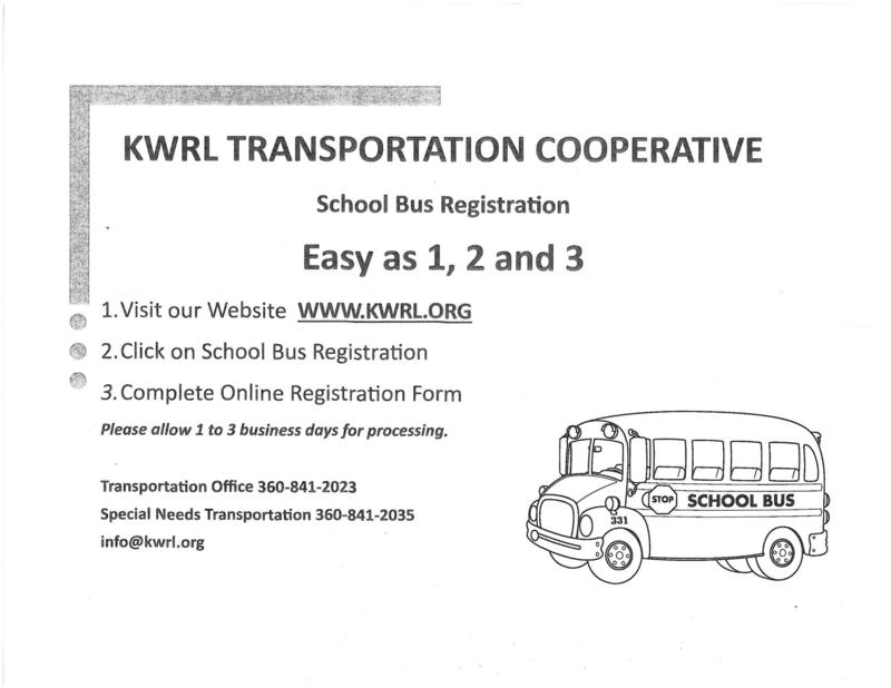 Bus Registration information