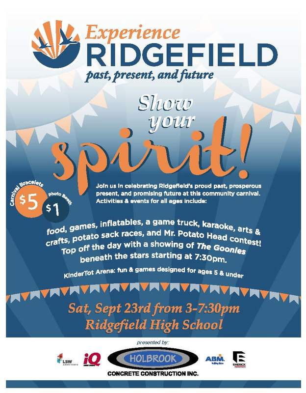 Experience Ridgefield Set for Saturday, September 23