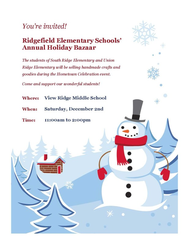 Ridgefield Elementary Schools' Holiday Bazaar Scheduled for Saturday, December 2