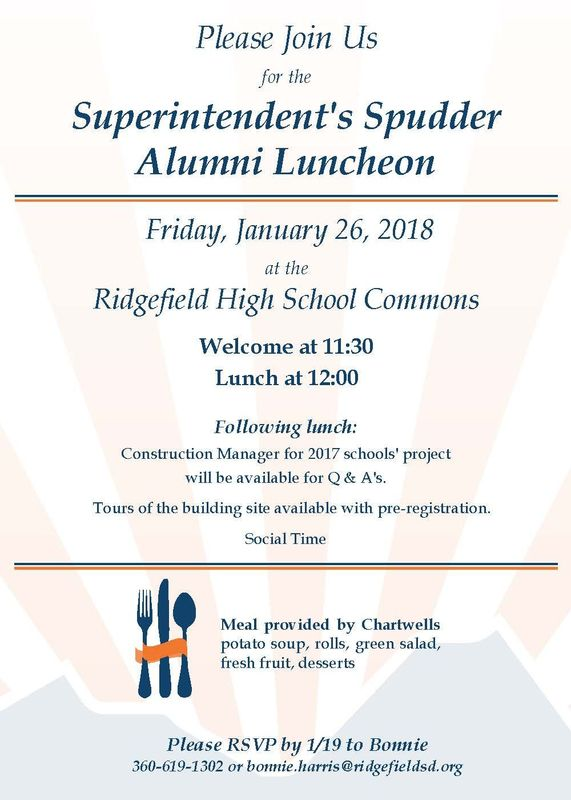 Superintendent's Spudder Alumni Luncheon Set for January 26