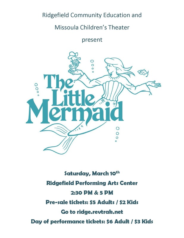"Performances of ""The Little Mermaid"" Set for Saturday, March 10"