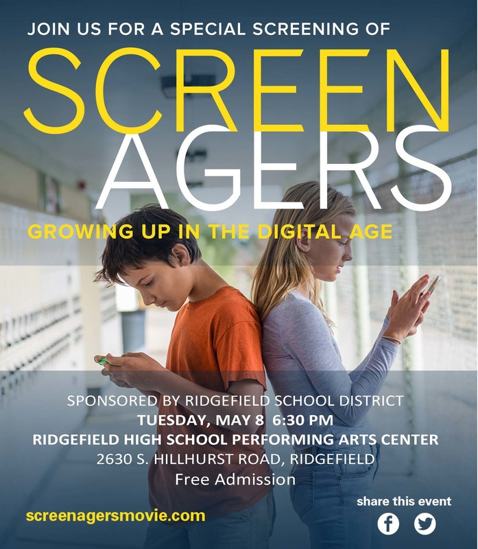 "Ridgefield School District Hosts Free Screening of Award-Winning Film ""Screenagers"""