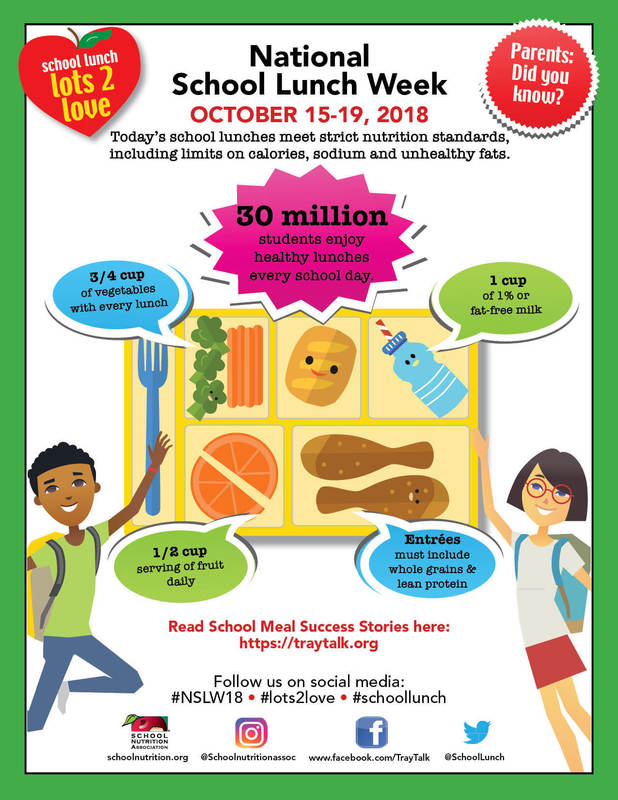 October 15-19 is National School Lunch Week
