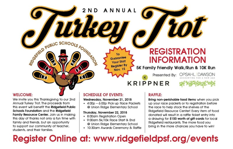Annual Turkey Trot 5K/10K Walk/Run Scheduled for November 22
