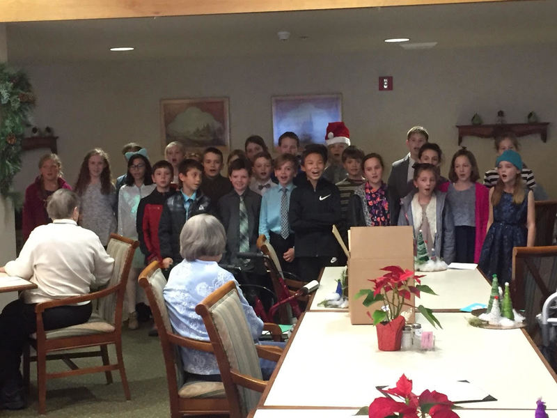 South Ridge Elementary Students Visit Senior Living Center