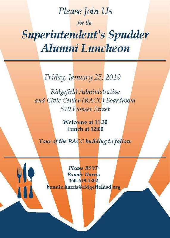 Spudder Alumni Luncheon Set for January 25