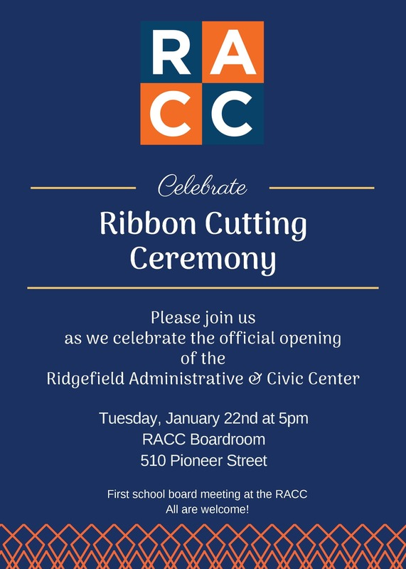 Official Opening of Ridgefield Administrative & Civic Center Set for January 22