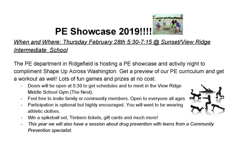 PE Showcase 2019 Set for February 28